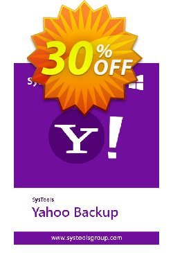 SysTools Yahoo Backup Tool - 100 Users  Coupon discount SysTools coupon 36906. Promotion: