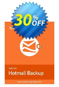 Hotmail Backup - Single User License Coupon, discount SysTools coupon 36906. Promotion: