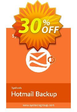 Hotmail Backup - 2 to 10 Users License Coupon, discount SysTools coupon 36906. Promotion: