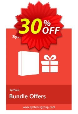 Bundle Offer - Hotmail Backup + Gmail Backup + Yahoo Backup - 26 to 50 Users License  Coupon discount SysTools coupon 36906. Promotion: