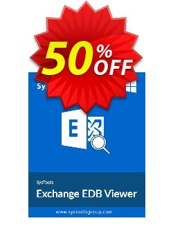 SysTools Exchange EDB Viewer Coupon discount SysTools Summer Sale -