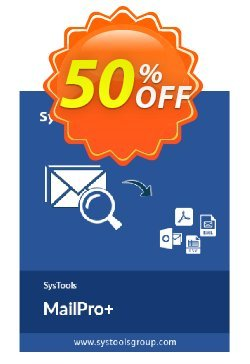 SysTools MailPro Plus - All License type  Coupon, discount SysTools coupon 36906. Promotion: