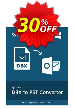 SysTools DBX to PST Converter - Enterprise License  Coupon, discount SysTools coupon 36906. Promotion: SysTools promotion codes 36906