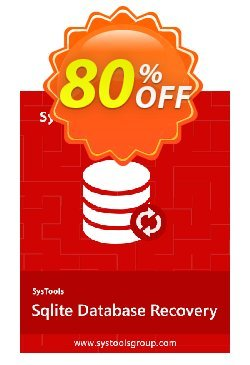 SQLite Database Recovery - Enterprise License Coupon discount SysTools coupon 36906. Promotion: SysTools promotion codes 36906