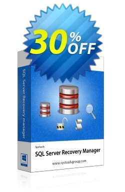 SysTools SQL Server Recovery Manager - Admin License Coupon discount SysTools Summer Sale. Promotion: SysTools promotion codes 36906