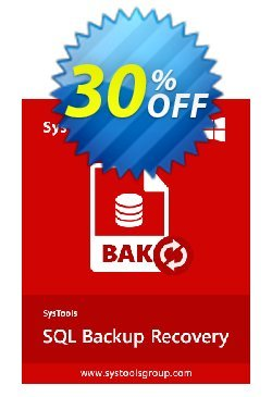 Systools SQL Backup Recovery - Business License  Coupon, discount SysTools coupon 36906. Promotion: