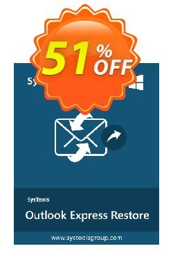 SysTools Outlook Express DBX Recovery Coupon discount SysTools coupon 36906. Promotion: SysTools promotion codes 36906