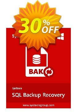 Systools SQL Backup Recovery - Enterprise License  Coupon, discount SysTools coupon 36906. Promotion: