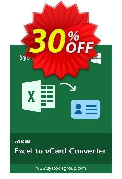 RecoveryTools for MS Excel to vCard Converter - Commercial  Coupon discount SysTools coupon 36906. Promotion: SysTools promotion codes 36906
