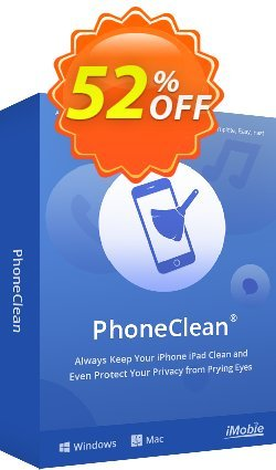 PhoneClean Pro for Mac Coupon, discount PhoneClean Pro for Mac Fearsome sales code 2020. Promotion: 30OFF Coupon Imobie