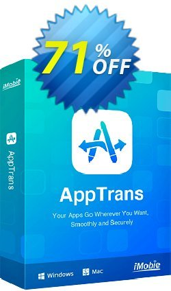AppTrans for Windows Coupon, discount AppTrans for Windows dreaded promotions code 2020. Promotion: 30OFF Coupon Imobie