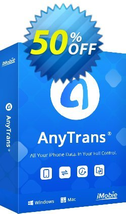 AnyTrans - Family License  Coupon, discount Coupon Imobie promotion 2 (39968). Promotion: 30OFF Coupon Imobie