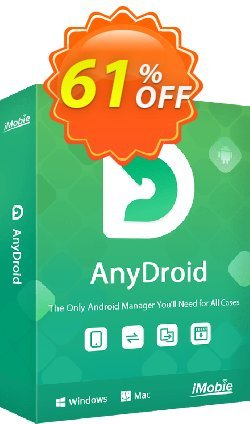 AnyTrans for Android 1 year license Coupon discount 50% OFF AnyTrans for Android 1 year license, verified. Promotion: Super discount code of AnyTrans for Android 1 year license, tested & approved
