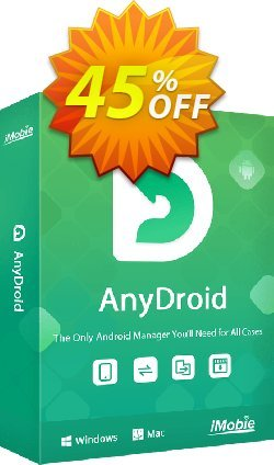 iMobie AnyDroid for MAC Lifetime license Coupon discount 45% OFF AnyDroid for MAC Lifetime license, verified - Super discount code of AnyDroid for MAC Lifetime license, tested & approved