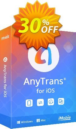 AnyTrans discount (Mac - family license) Coupon, discount Coupon Imobie promotion 2 (39968). Promotion: 30OFF Coupon Imobie