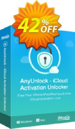 AnyUnlock iCloud Activation Unlocker - 1-Year Plan  Coupon, discount 40% OFF AnyUnlock iCloud Activation Unlocker (1-Year Plan), verified. Promotion: Super discount code of AnyUnlock iCloud Activation Unlocker (1-Year Plan), tested & approved