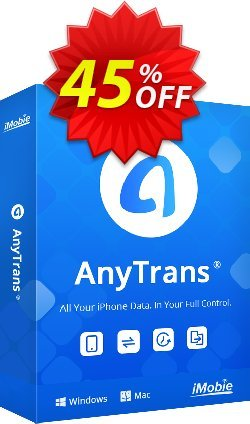 AnyTrans for iOS - family license  Coupon discount AnyTrans for iOS - family license wonderful discounts code 2020. Promotion: wonderful discounts code of AnyTrans for iOS - family license 2020