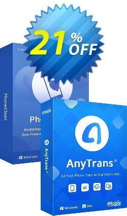 PhoneClean + AnyTrans Family Bundle for Mac Coupon discount PhoneClean + AnyTrans Family Bundle for Mac Dreaded sales code 2021 - Dreaded sales code of PhoneClean + AnyTrans Family Bundle for Mac 2021