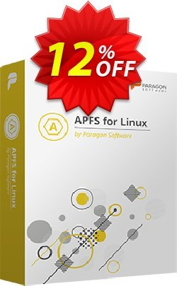 Paragon APFS for Linux Coupon discount 10% OFF Paragon APFS for Linux, verified - Impressive promotions code of Paragon APFS for Linux, tested & approved