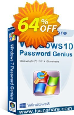 iSunshare Windows 10 Password Genius Coupon discount iSunshare discount (47025) - iSunshare discount coupons