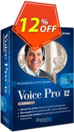 Voice Pro 12 Legal Coupon, discount Coupon code Voice Pro 12 Legal. Promotion: Voice Pro 12 Legal offer from Linguatec