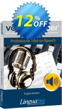 Voice Reader Studio 15 ENG / English - British  Coupon discount Coupon code Voice Reader Studio 15 ENG / English (British) - Voice Reader Studio 15 ENG / English (British) offer from Linguatec