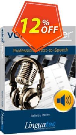 Voice Reader Studio 15 ITI / Italiano/Italian Coupon, discount Coupon code Voice Reader Studio 15 ITI / Italiano/Italian. Promotion: Voice Reader Studio 15 ITI / Italiano/Italian offer from Linguatec