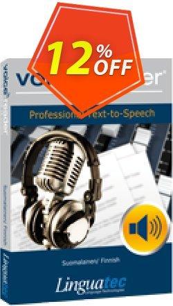 Voice Reader Studio 15 FIF / Suomalainen/Finnish Coupon, discount Coupon code Voice Reader Studio 15 FIF / Suomalainen/Finnish. Promotion: Voice Reader Studio 15 FIF / Suomalainen/Finnish offer from Linguatec