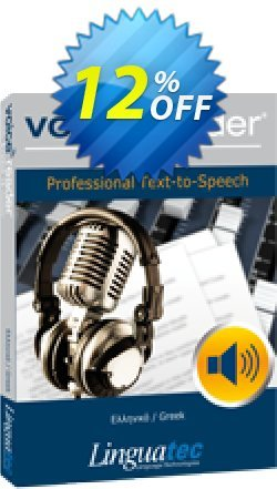 Voice Reader Studio 15 GRG / Greek Coupon discount Coupon code Voice Reader Studio 15 GRG / Greek - Voice Reader Studio 15 GRG / Greek offer from Linguatec