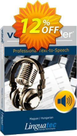 Voice Reader Studio 15 HUH / Magyar/Hungarian Coupon discount Coupon code Voice Reader Studio 15 HUH / Magyar/Hungarian - Voice Reader Studio 15 HUH / Magyar/Hungarian offer from Linguatec