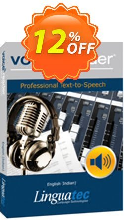 Voice Reader Studio 15 ENI / English - Indian  Coupon, discount Coupon code Voice Reader Studio 15 ENI / English (Indian). Promotion: Voice Reader Studio 15 ENI / English (Indian) offer from Linguatec