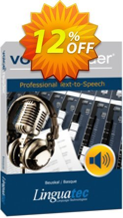 Voice Reader Studio 15 BAE / Beuskal/Basque Coupon, discount Coupon code Voice Reader Studio 15 BAE / Beuskal/Basque. Promotion: Voice Reader Studio 15 BAE / Beuskal/Basque offer from Linguatec