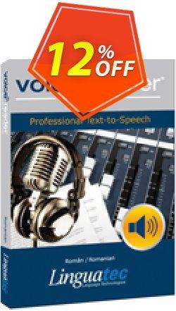Voice Reader Studio 15 ROR / Român/Romanian Coupon, discount Coupon code Voice Reader Studio 15 ROR / Român/Romanian. Promotion: Voice Reader Studio 15 ROR / Român/Romanian offer from Linguatec