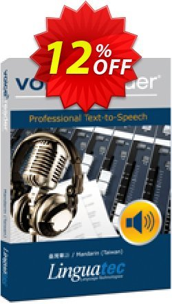 Voice Reader Studio 15 MNT / Mandarin - Taiwan  Coupon discount Coupon code Voice Reader Studio 15 MNT / Mandarin (Taiwan). Promotion: Voice Reader Studio 15 MNT / Mandarin (Taiwan) offer from Linguatec