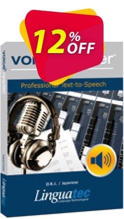 Voice Reader Studio 15 JPJ / Japanese Coupon, discount Coupon code Voice Reader Studio 15 JPJ / Japanese. Promotion: Voice Reader Studio 15 JPJ / Japanese offer from Linguatec
