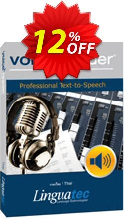 Voice Reader Studio 15 THT / Thai Coupon discount Coupon code Voice Reader Studio 15 THT / Thai - Voice Reader Studio 15 THT / Thai offer from Linguatec