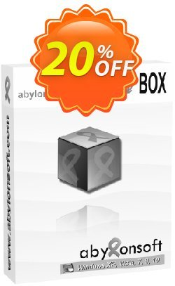 abylon CRYPT in the BOX Coupon, discount 20% OFF abylon CRYPT in the BOX, verified. Promotion: Big sales code of abylon CRYPT in the BOX, tested & approved