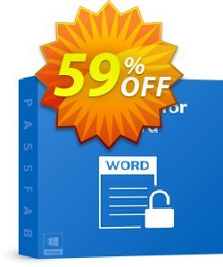 PassFab for Word Coupon, discount 58% OFF PassFab for Word, verified. Promotion: Staggering deals code of PassFab for Word, tested & approved
