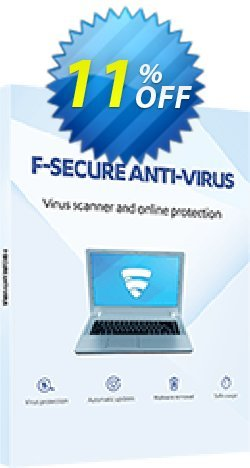 F-Secure ANTI-VIRUS Coupon discount 10% OFF F-Secure ANTI-VIRUS, verified. Promotion: Imposing offer code of F-Secure ANTI-VIRUS, tested & approved