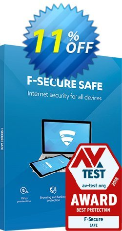 F-Secure SAFE Coupon discount 10% OFF F-Secure SAFE, verified - Imposing offer code of F-Secure SAFE, tested & approved