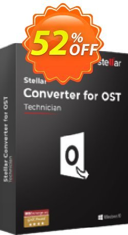 Stellar OST to PST Converter discount - Technician  Coupon, discount Stellar Converter for OST Technician wonderful sales code 2020. Promotion: NVC Exclusive Coupon