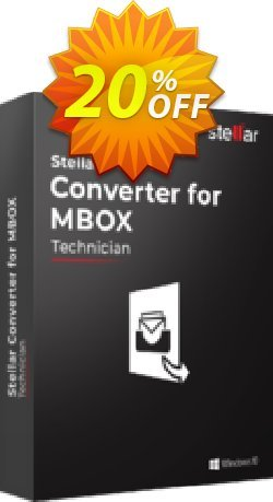 Stellar MBOX to PST Converter offer - Technical  Coupon, discount Stellar Converter for MBOX – Tech awful promotions code 2020. Promotion: NVC Exclusive Coupon