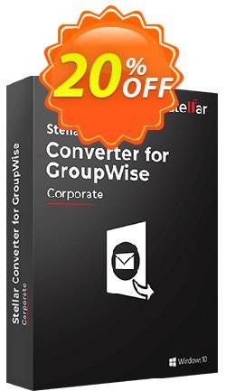 Stellar GroupWise to PST Converter Coupon, discount Stellar Converter for GroupWise [1 Year Subscription] impressive offer code 2020. Promotion: NVC Exclusive Coupon