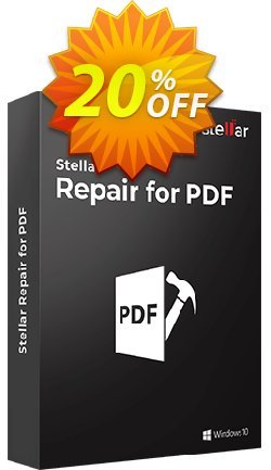 Stellar Phoenix Repair for PDF Coupon, discount NVC Exclusive Coupon. Promotion: NVC Exclusive Coupon