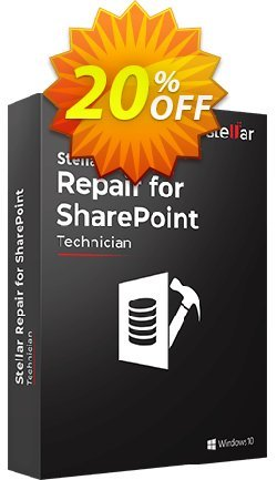 Stellar Phoenix SharePoint Server Recovery Coupon, discount Stellar Repair for SharePoint formidable promo code 2020. Promotion: NVC Exclusive Coupon
