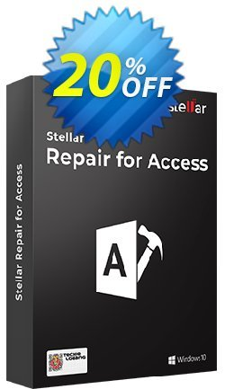 Stellar Phoenix Access Database Repair Coupon, discount Stellar Repair for Access-V6 stunning discounts code 2020. Promotion: NVC Exclusive Coupon