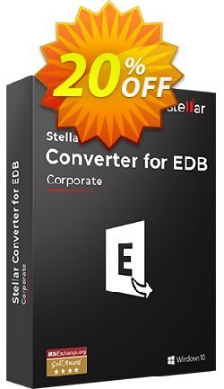 Stellar Converter for EDB Coupon, discount 20% off on all re-purchase(for Support Team). Promotion: 20% off on all re-purchase(for Support Team)
