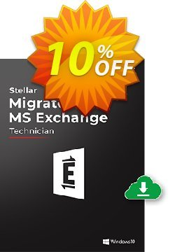 Stellar Migrator for MS Exchange Technician - 250 Mailbox  Coupon, discount Stellar Migrator for MS Exchange Technician(250 Mailbox) Awful sales code 2021. Promotion: Awful sales code of Stellar Migrator for MS Exchange Technician(250 Mailbox) 2021