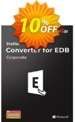 Stellar Converter for EDB Corporate - 500 Mailboxes  Coupon, discount Stellar Converter for EDB Corporate{Upto 500 Mailboxes] Stirring discount code 2021. Promotion: Stirring discount code of Stellar Converter for EDB Corporate{Upto 500 Mailboxes] 2021