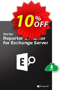 Stellar Reporter & Auditor for Exchange Server Coupon, discount Stellar Reporter & Auditor for Exchange Server  Best discount code 2021. Promotion: Best discount code of Stellar Reporter & Auditor for Exchange Server  2021